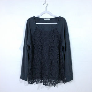 Maurices Grey Lace Sweater.